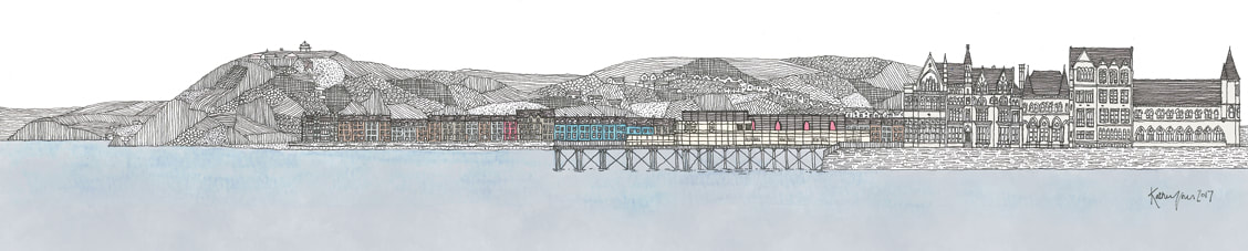 Aberystwyth | Buy Drawings - Recognisable Welsh Town