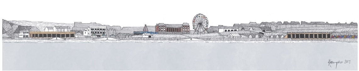 Barry Island | Buy Drawings - South Wales Coastal Landscape