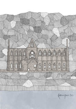 Tintern Abbey | Buy Drawings - Historic Welsh Building
