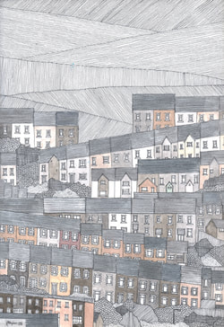 Tonypandy | Buy Drawings - South Wales Mining Towns
